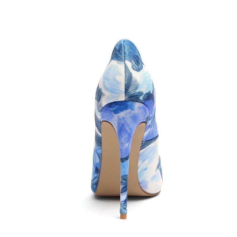 Ericdress Print Stiletto Heel Slip-On Women's Prom Shoes