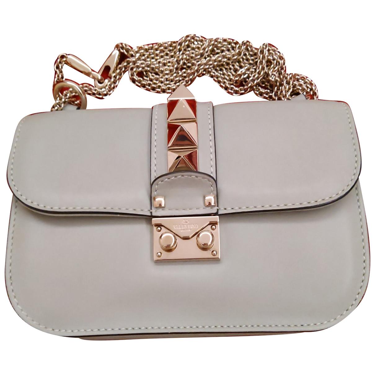 Valentino Garavani Glam Lock Handtasche in  Gruen Leder