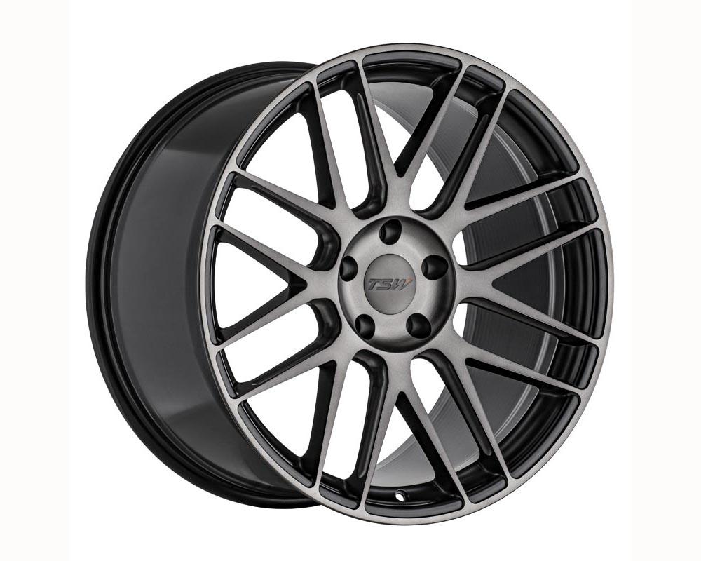 TSW Nord Wheel 19x8.5 5x108 40 Semi Gloss Black w/Ball Milling and Machined Dark Tint Face