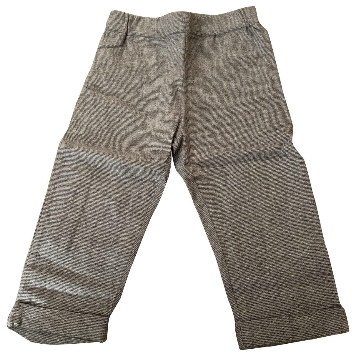 La Châtelaine \N Grey Cotton Trousers for Kids 18 months - up to 81cm FR
