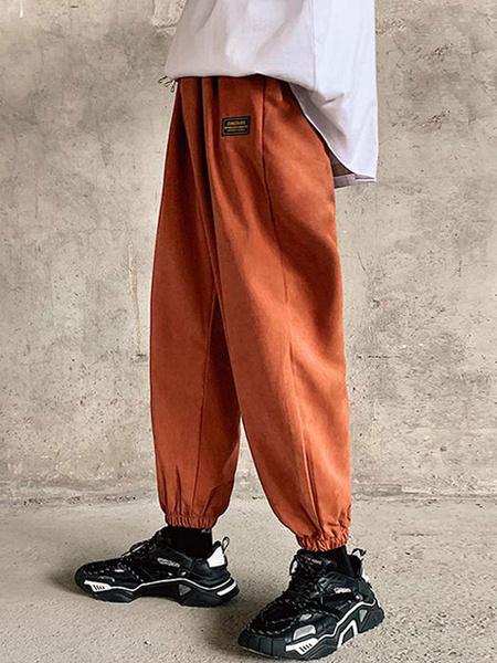 Milanoo Men\s Trousers Casual Natural Waist Straight Cargo Pant Grey Men\s Pants