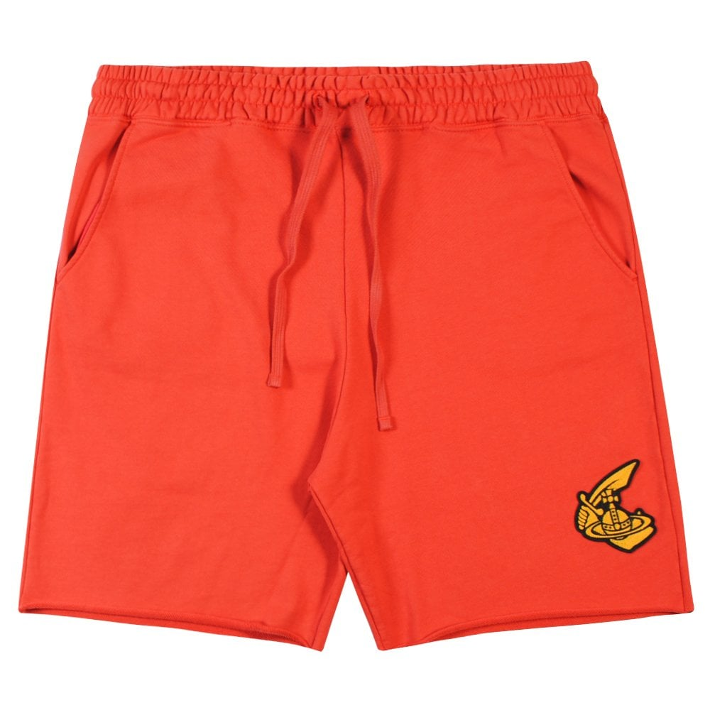 Vivienne Westwood Anglomania Classic Logo Jersey Shorts Colour: RED, Size: MEDIUM