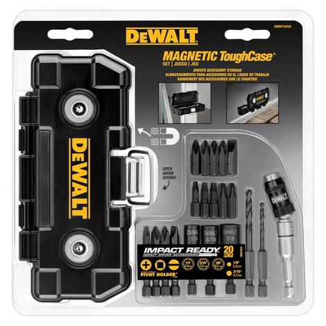 DeWalt Dewalt 20 Pc Impact Ready Magnet Tough Case Set