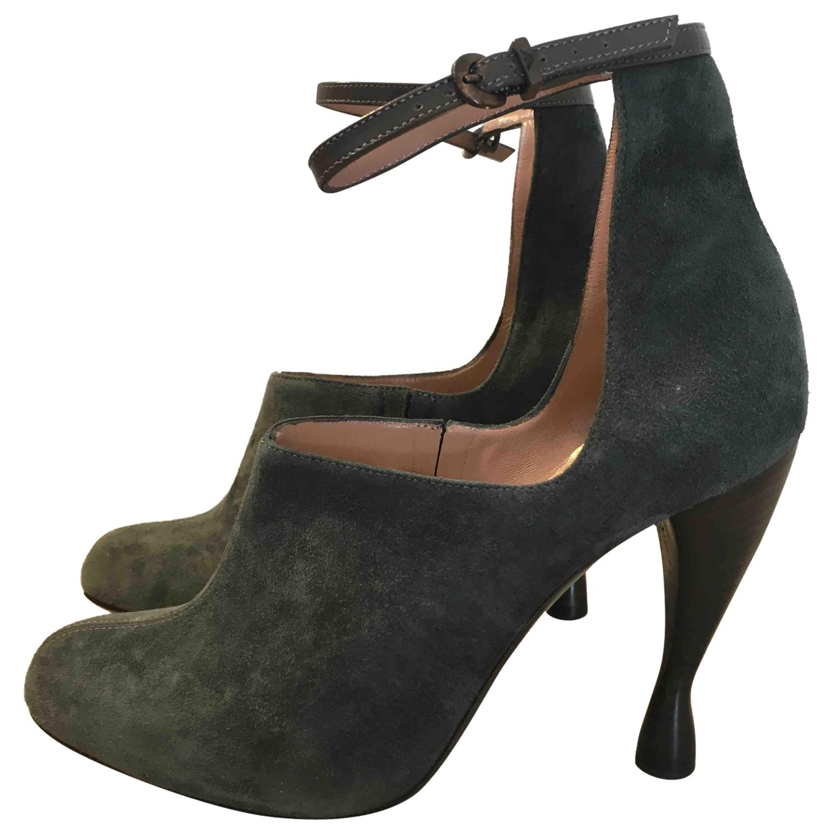 Emporio Armani \N Grey Suede Ankle boots for Women 36 IT