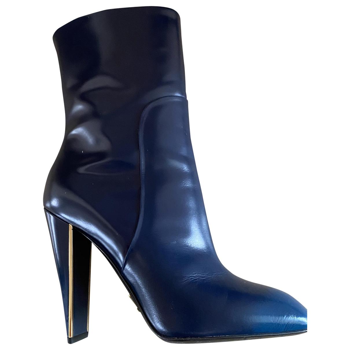 Louis Vuitton \N Stiefel in  Blau Leder