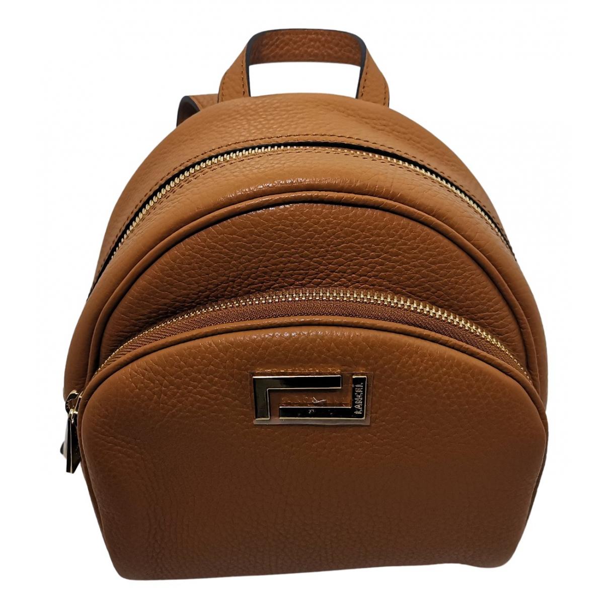 Lancel Lola Camel Leather backpack for Women N