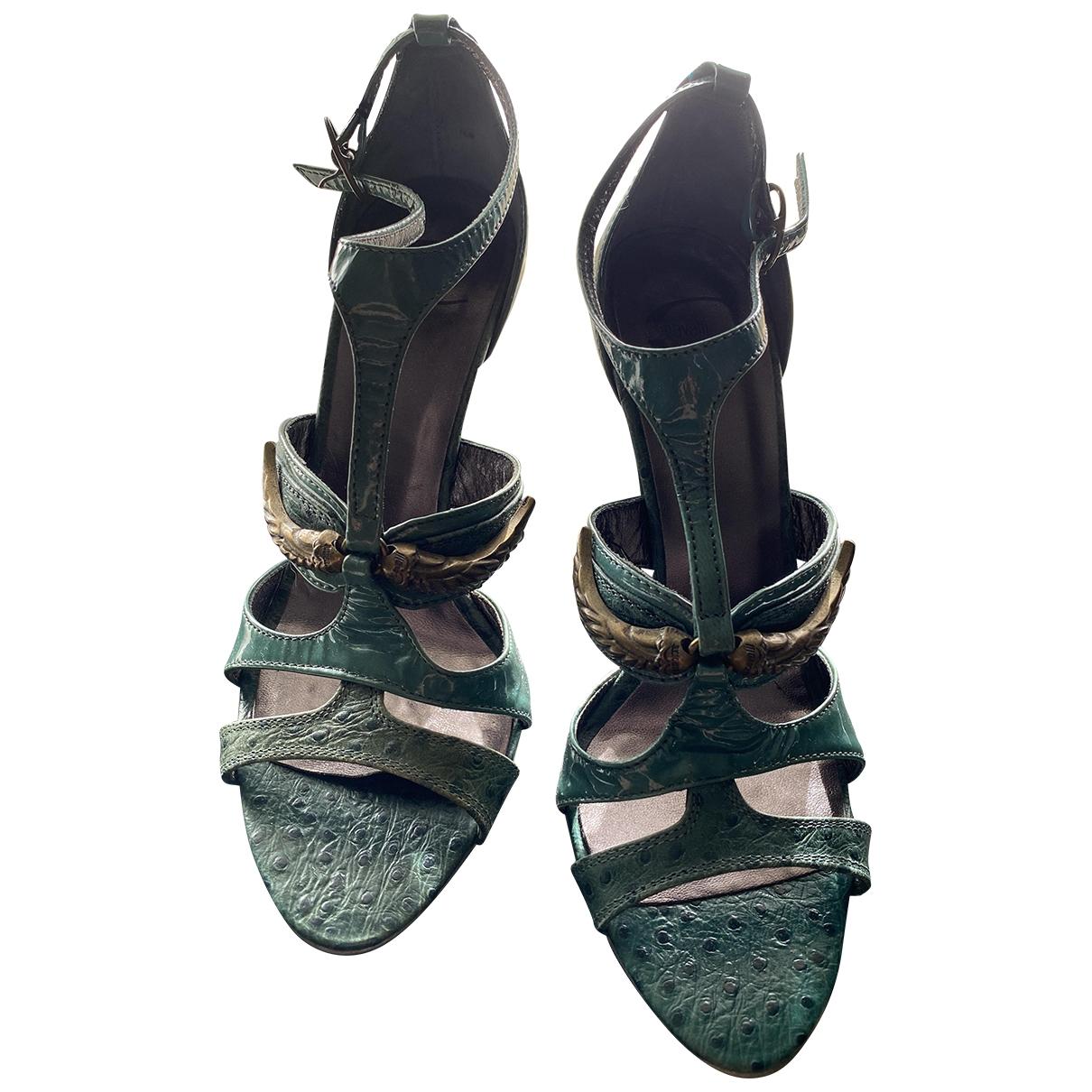 Just Cavalli - Sandales   pour femme en cuir - vert