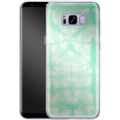 Samsung Galaxy S8 Plus Silikon Handyhuelle - Tie Dye 2 Mint von Amy Sia