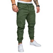 Pantalones para hombre Cordon Liso Verde militar Casual