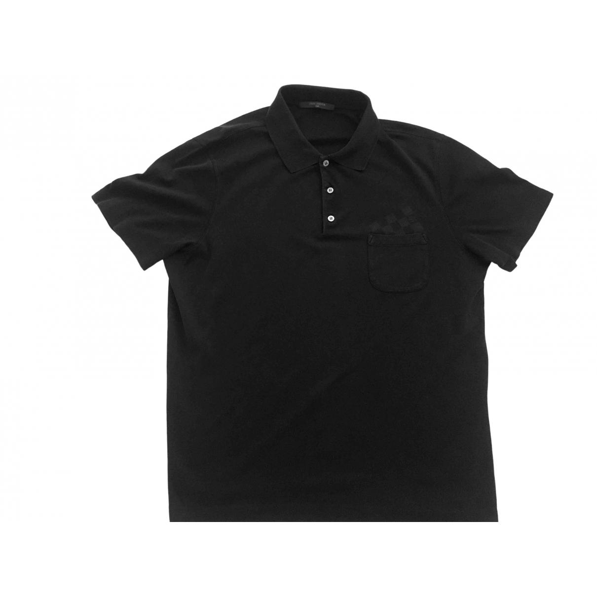 Louis Vuitton \N Poloshirts in  Schwarz Baumwolle
