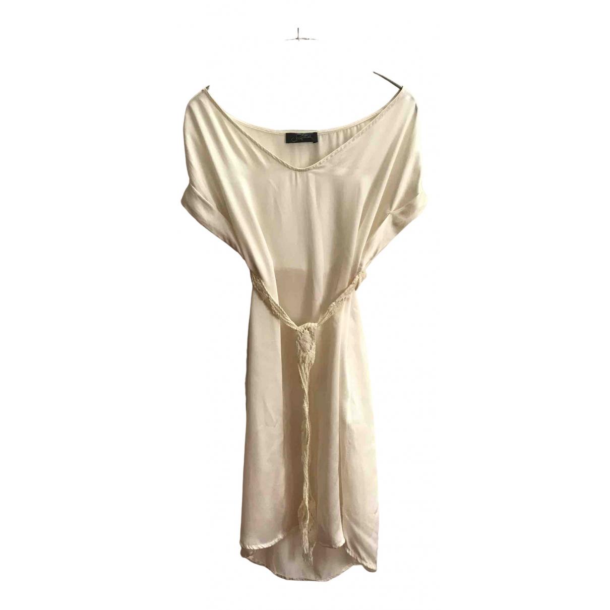 - Top Oversize pour femme en soie - blanc