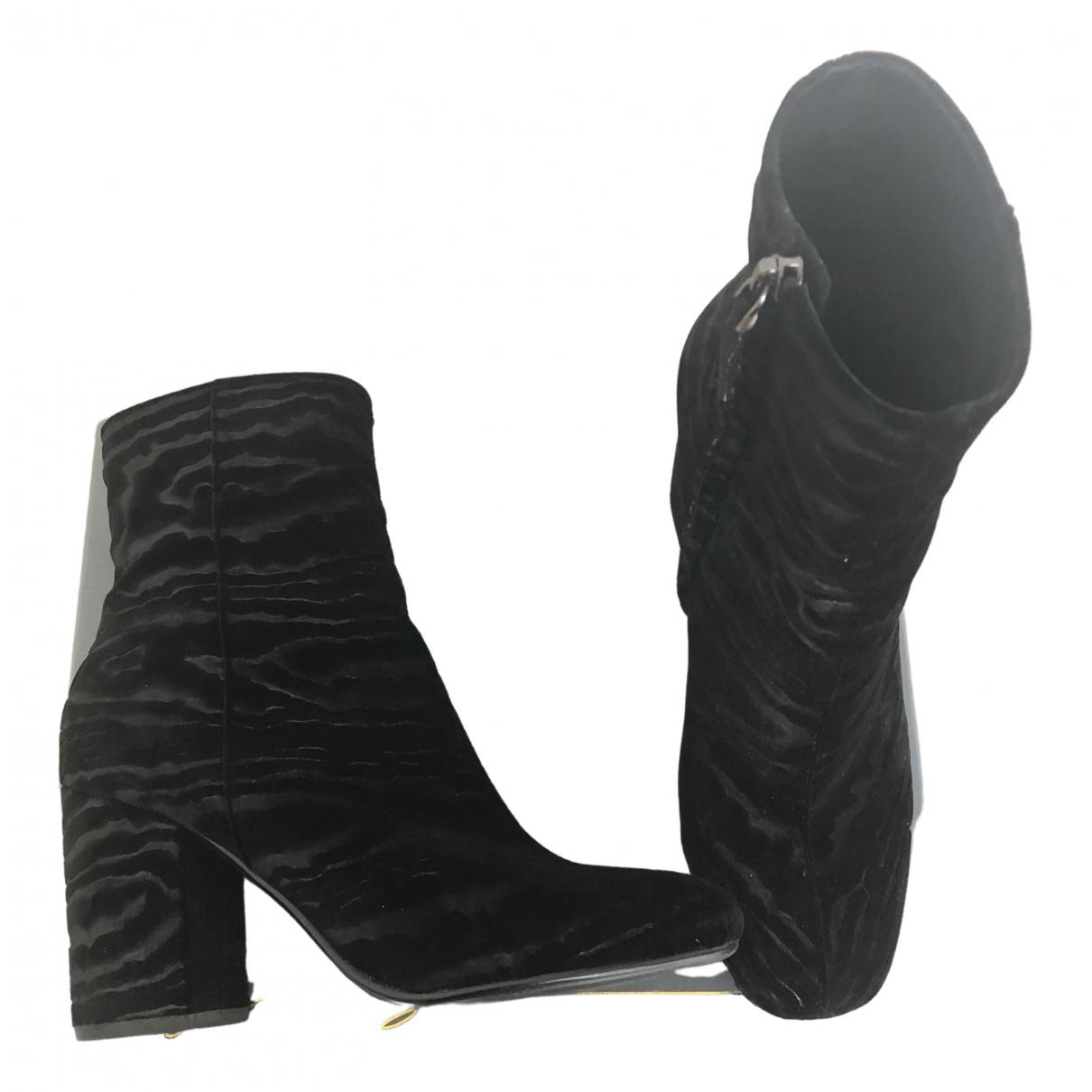 Lola Cruz - Boots   pour femme en velours - noir