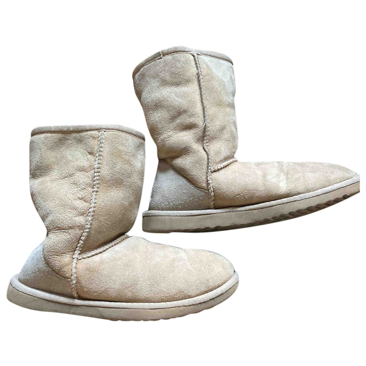 Ugg N Beige Suede Ankle boots for Women 5 US
