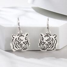 Ohrringe mit Tiger Anhaenger