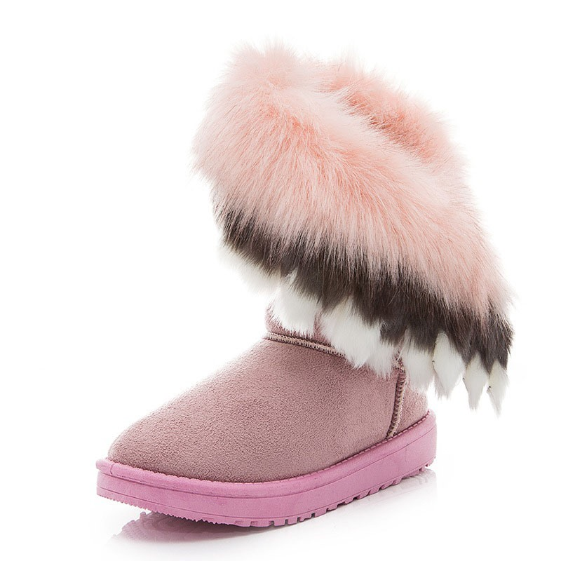 Ericdress Color Block Slip-On Women's Snow Boots