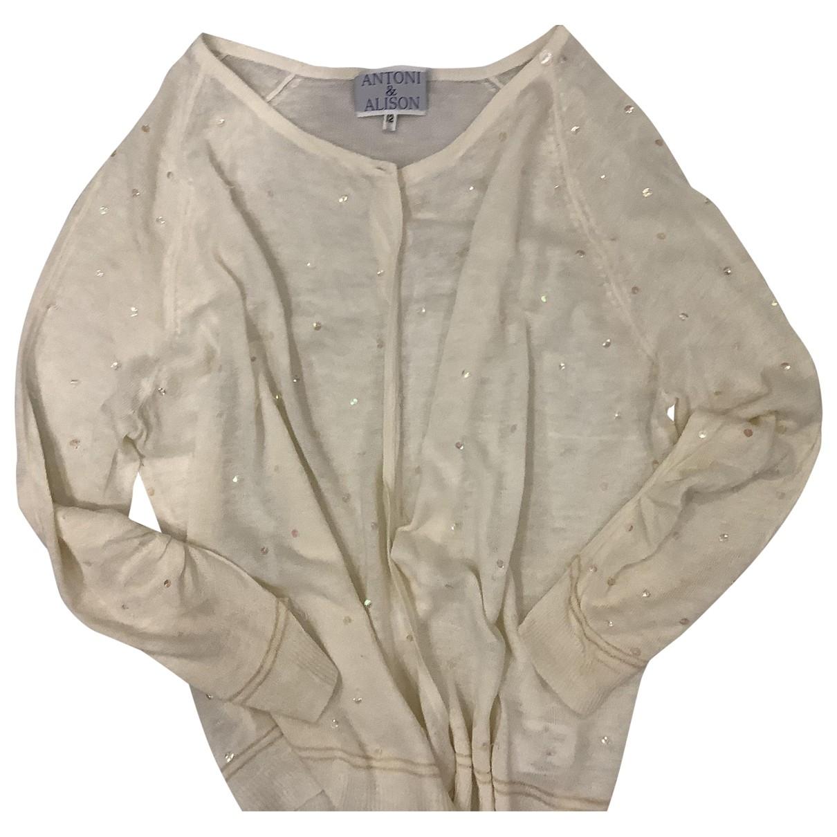 - Pull   pour femme en lin - beige