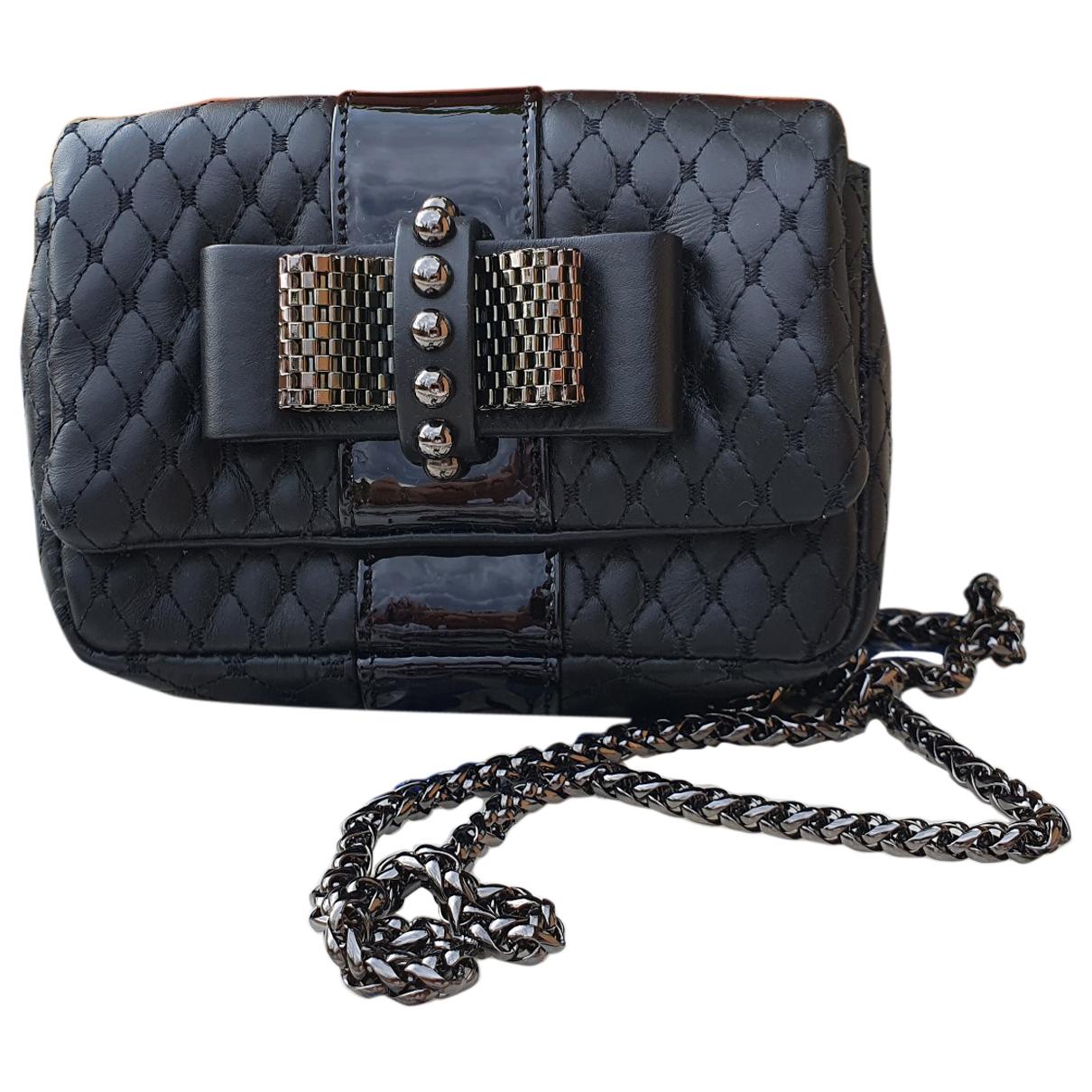 Christian Louboutin Sweet Charity Black Leather handbag for Women \N