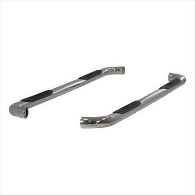 ARIES Offroad Side Bars 3 Inch Nerf Step Bars, Cab Length (Polished Stainless) - 203006-2