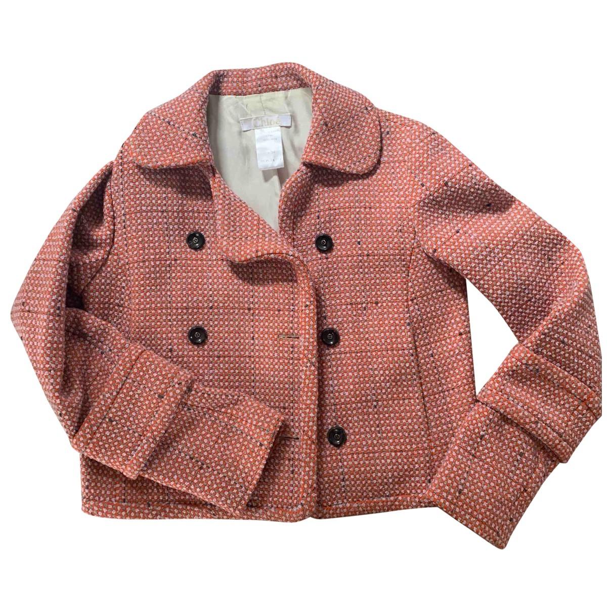 Chloé \N Orange Wool jacket for Women 38 FR