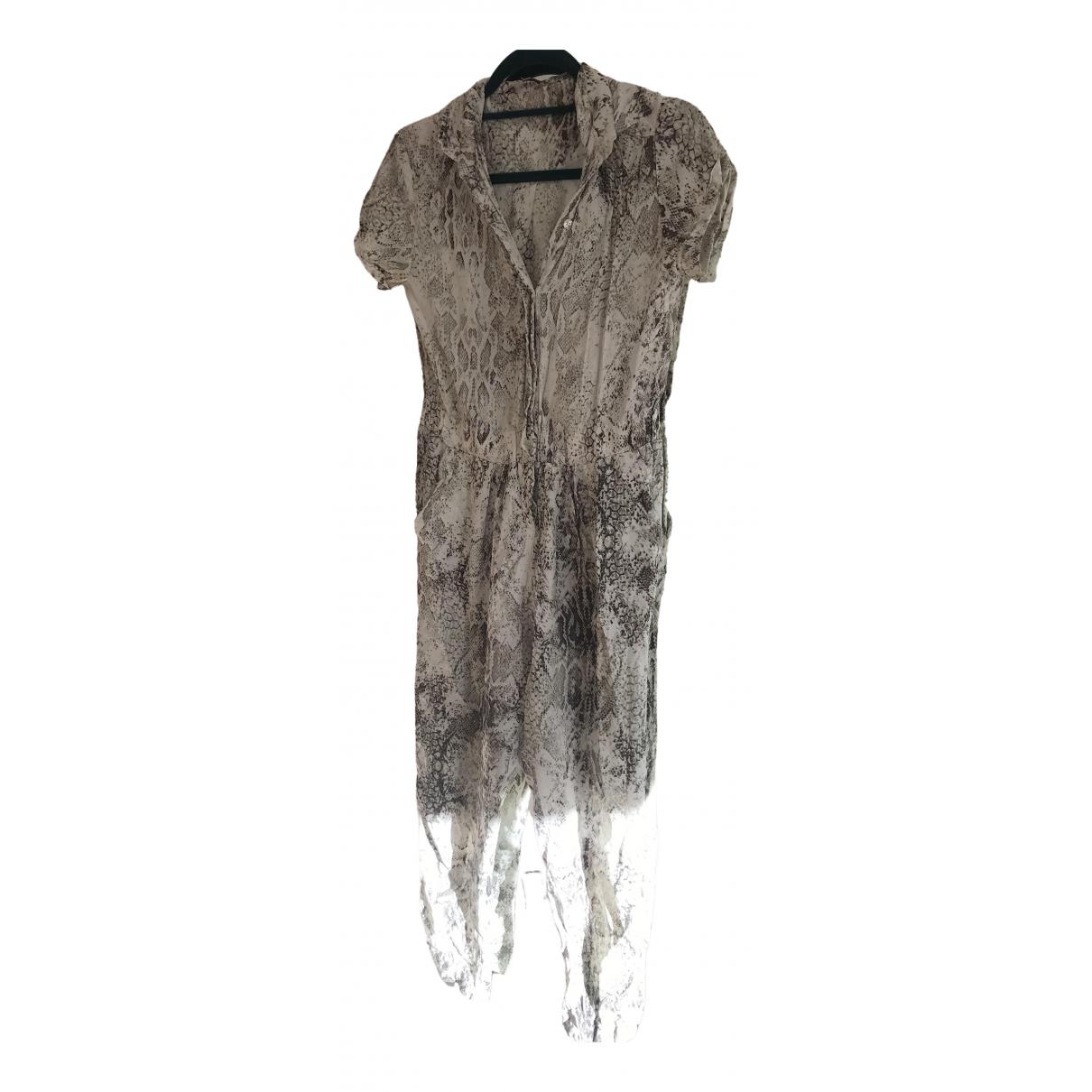 Maje - Combinaison Spring Summer 2020 pour femme en lin - gris