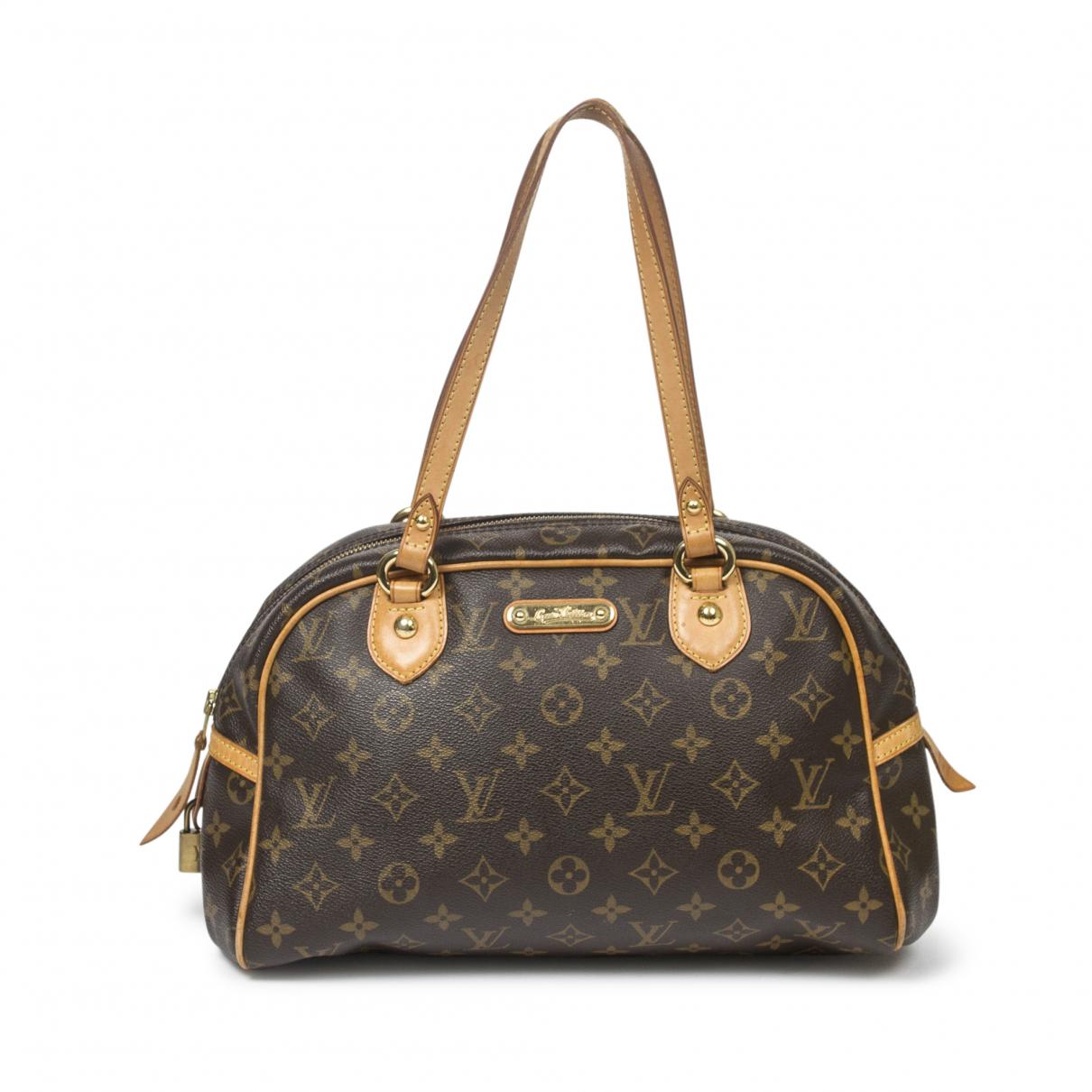Louis Vuitton Montorgueil Handtasche in  Braun Baumwolle
