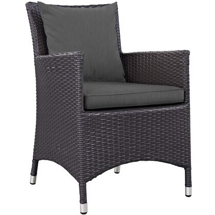 Convene Collection EEI-1913-EXP-CHA Dining Outdoor Patio Armchair in Espresso Charcoal