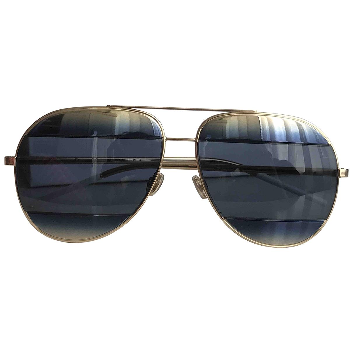 Dior Split Sonnenbrillen in  Gold Metall