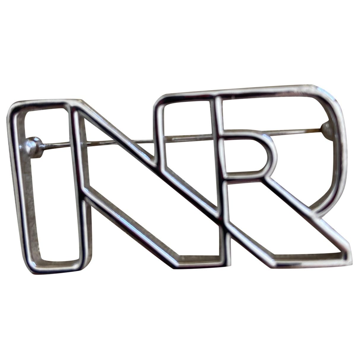 Nina Ricci - Broche   pour femme en metal - argente