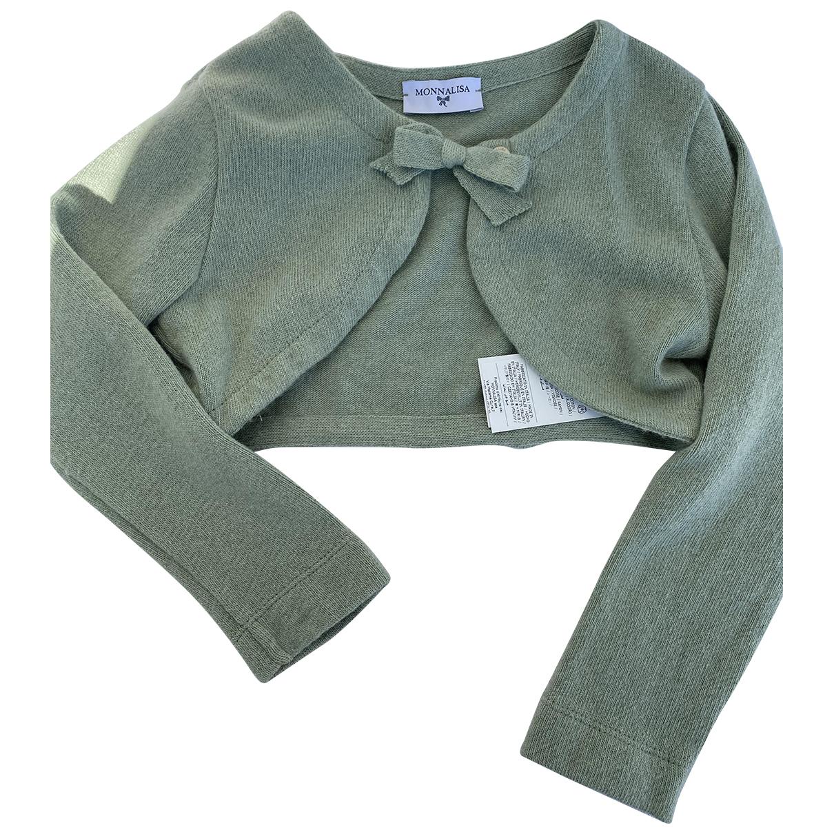 Monnalisa - Pull   pour enfant en laine - vert