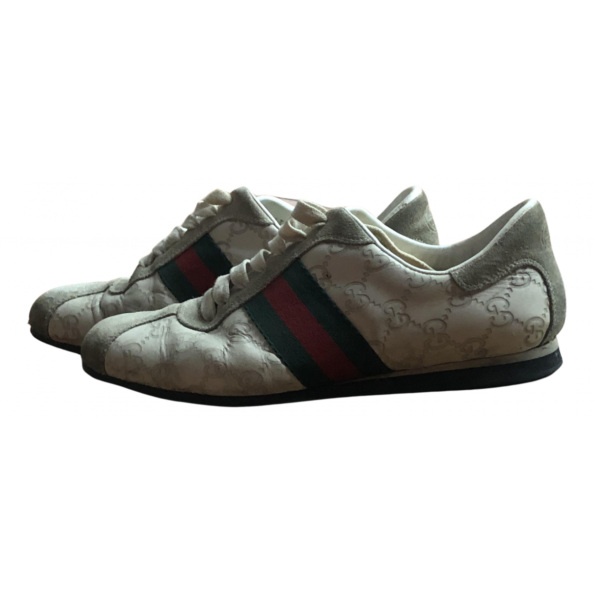 Gucci N Beige Leather Trainers for Women 39 EU