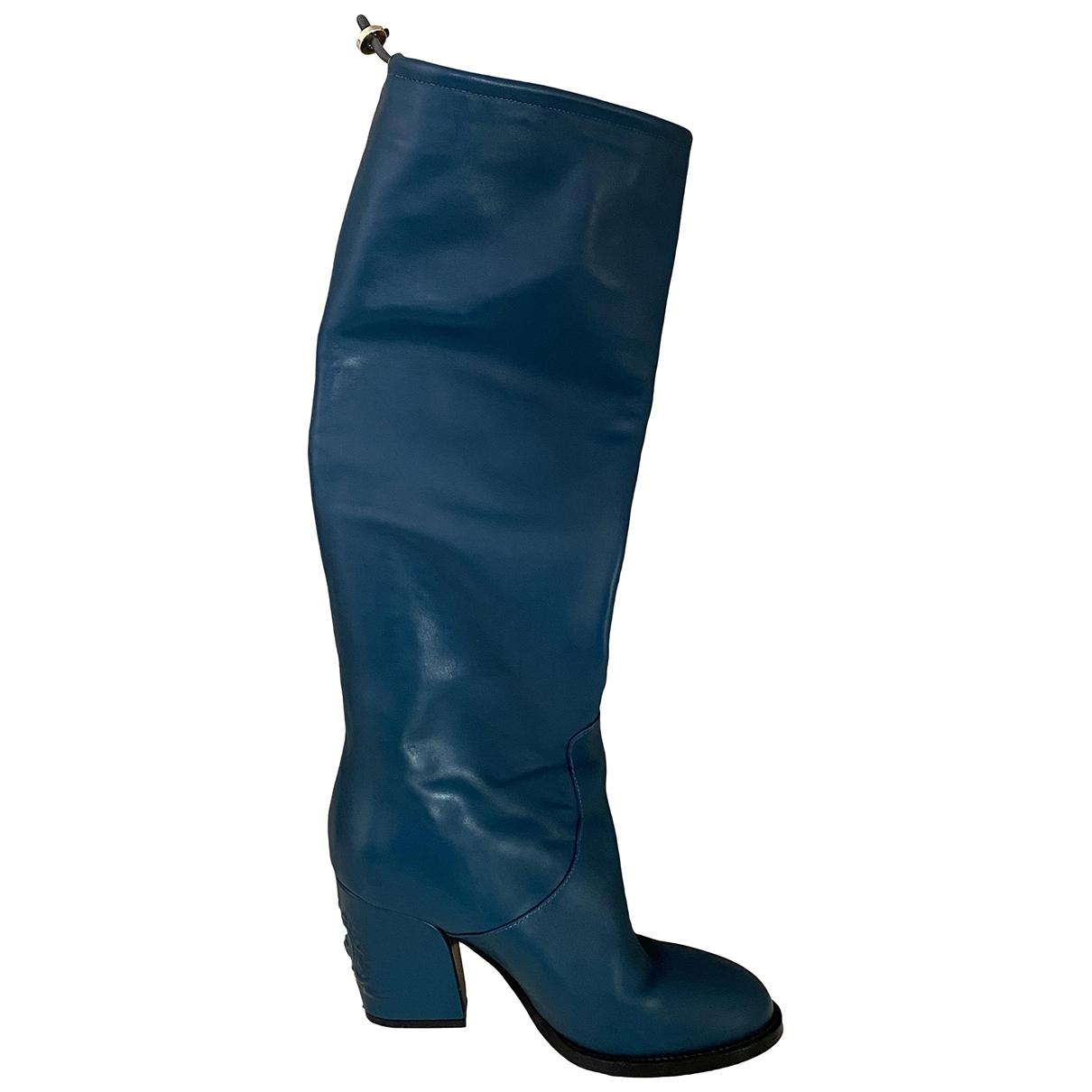 Tommy Hilfiger - Bottes   pour femme en cuir