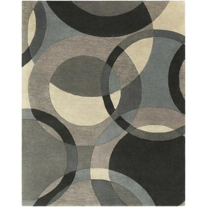 Forum FM-7193 5' x 8' Rectangle Modern Rug in Khaki  Denim  Charcoal  Black  Taupe  Medium