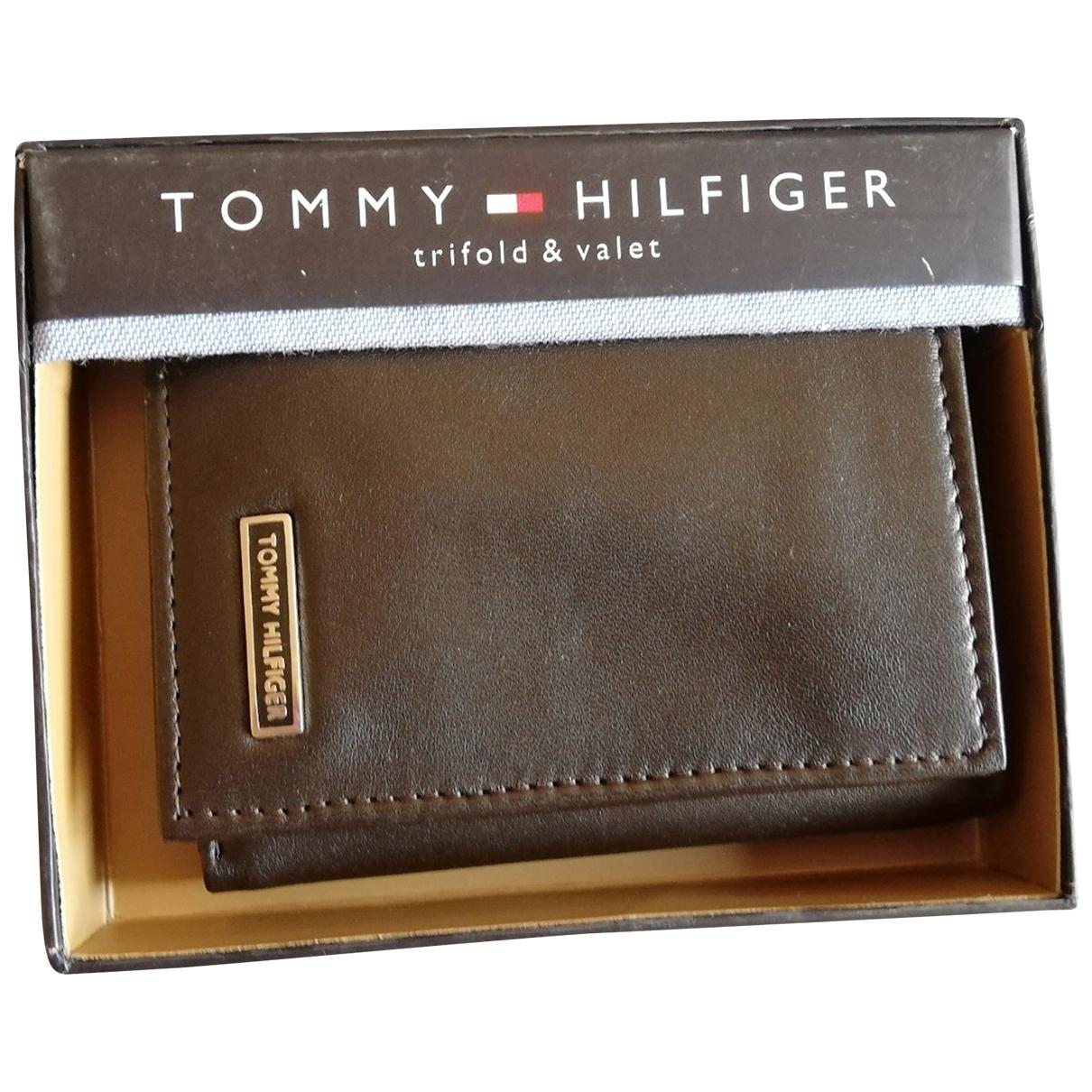Tommy Hilfiger - Petite maroquinerie   pour homme en cuir - marron