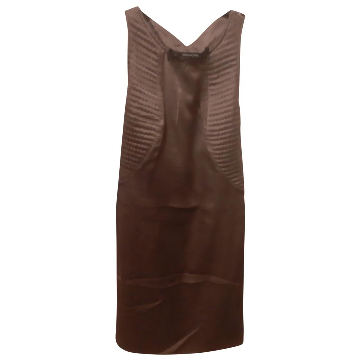 Patrizia Pepe \N Kleid in  Grau Seide