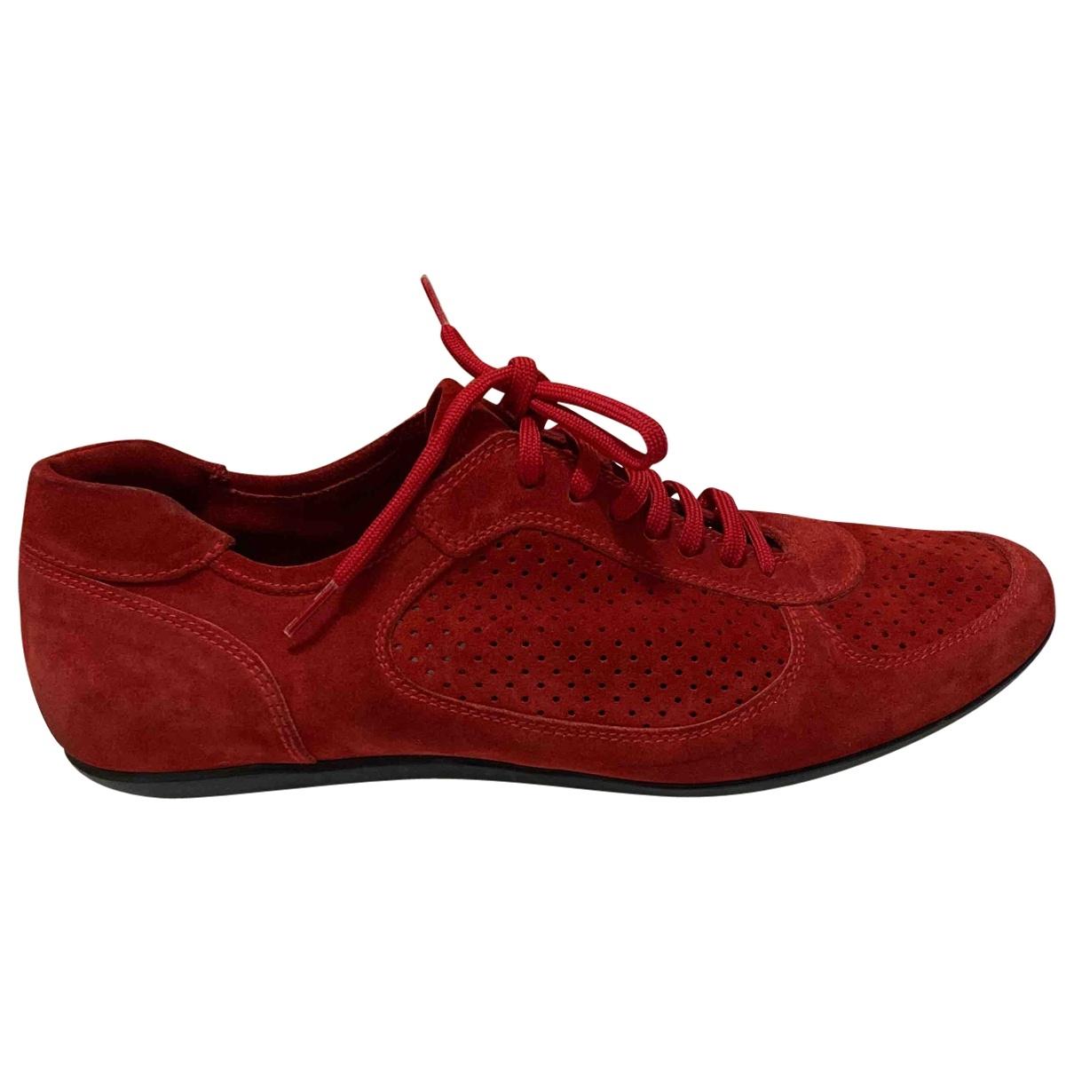 Miu Miu - Baskets   pour homme en suede - rouge