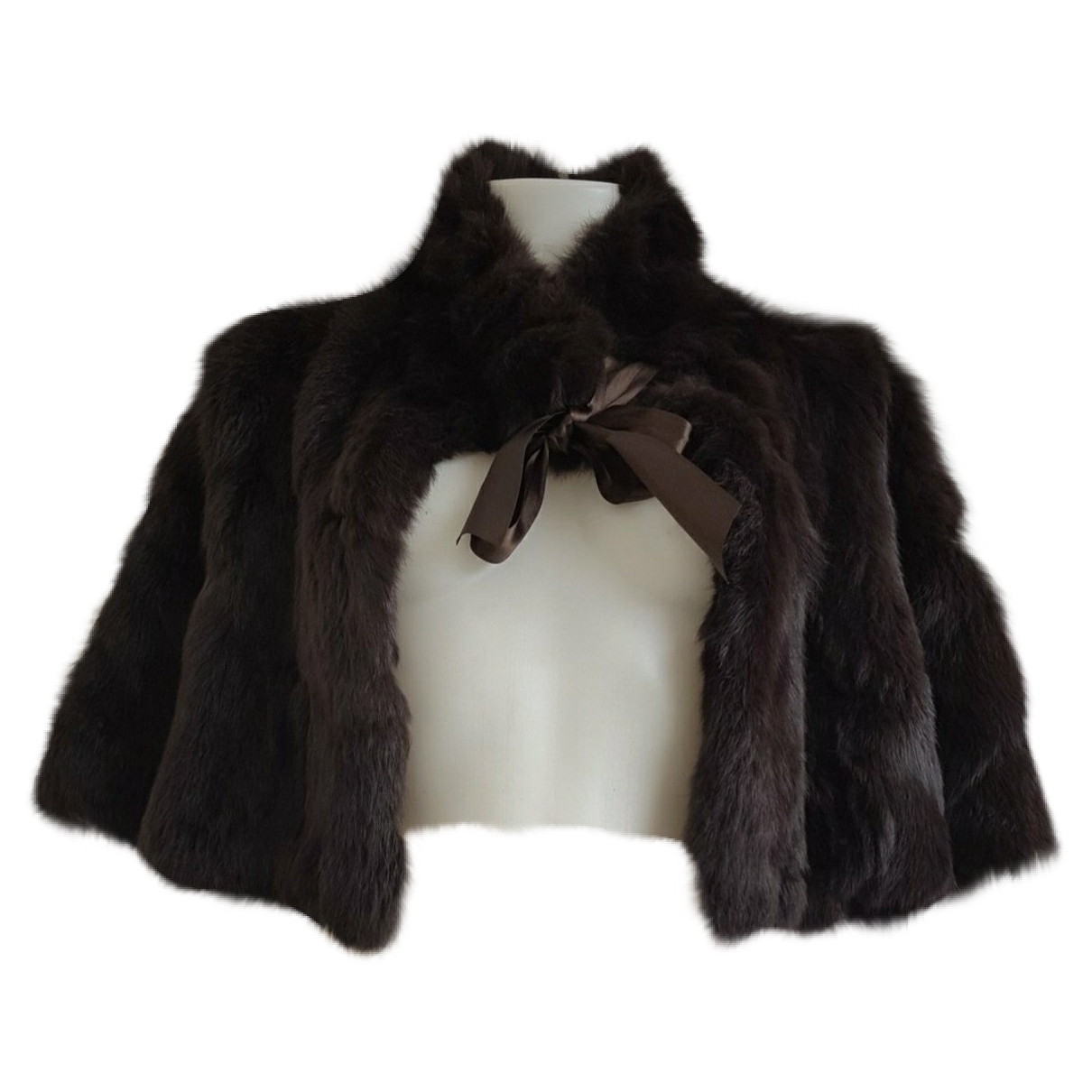 Non Signé / Unsigned \N Brown Rabbit coat for Women S International