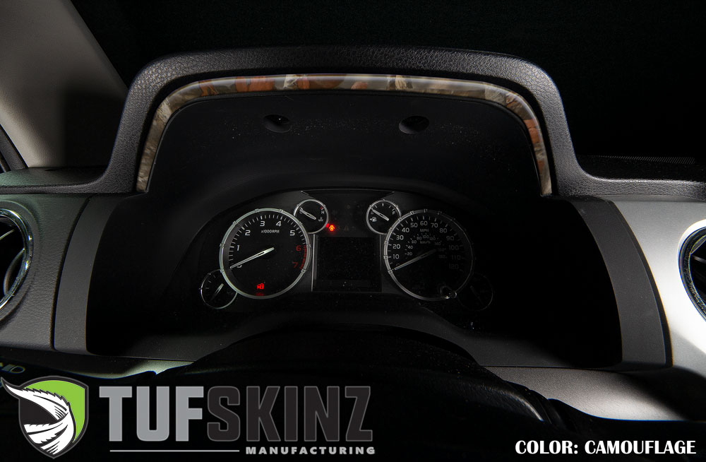 Tufskinz TUN033-CAM-M Dashboard Accent Trim Fits 14-up Toyota Tundra 1 Piece Kit in Camouflage
