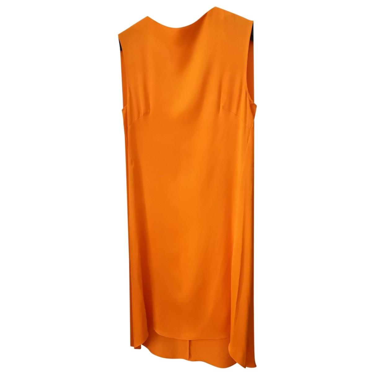 By Malene Birger \N Kleid in  Orange Viskose