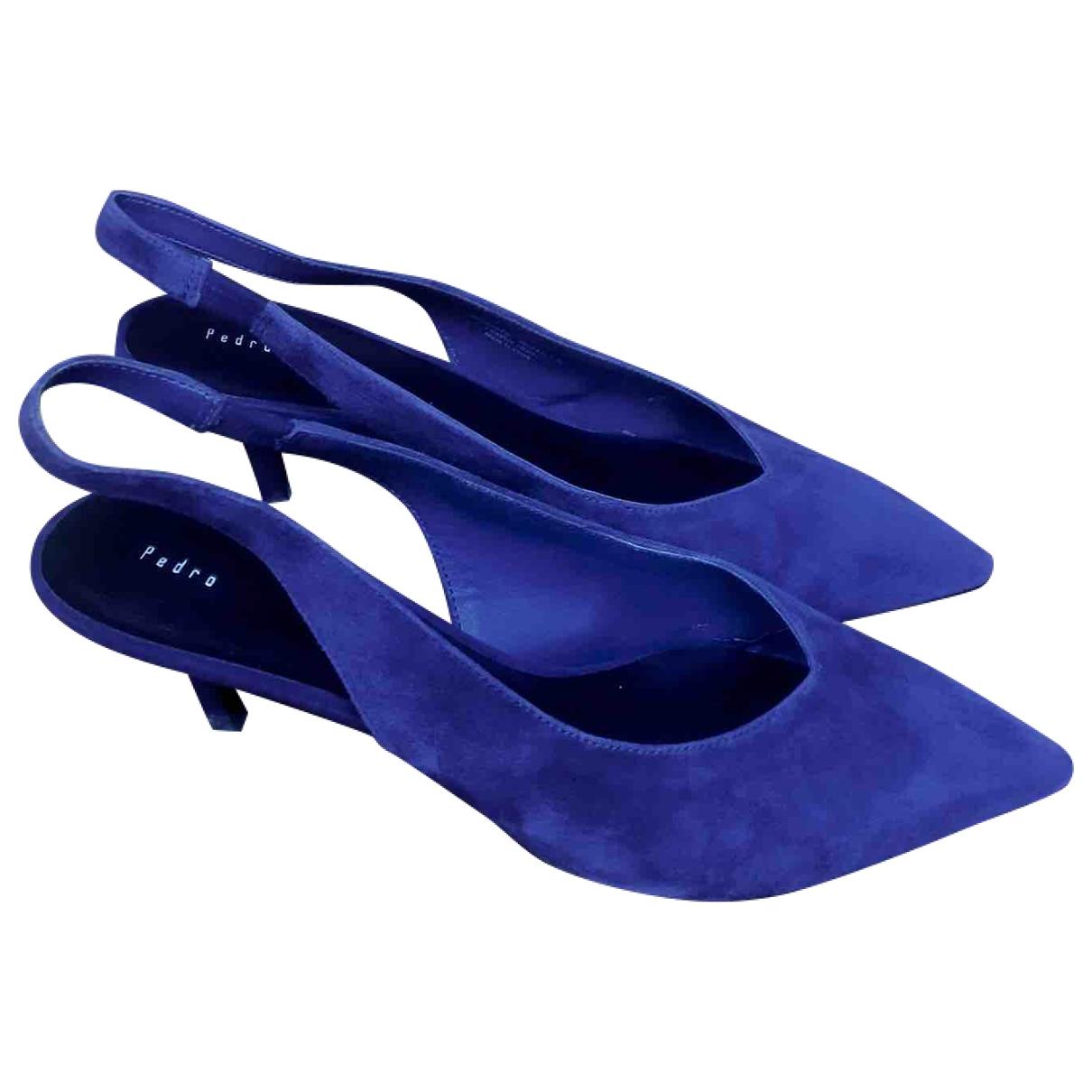 - Sandales   pour femme en veau facon poulain - bleu