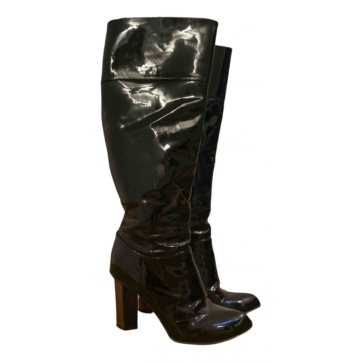 Dolce & Gabbana N Black Patent leather Boots for Women 38.5 EU
