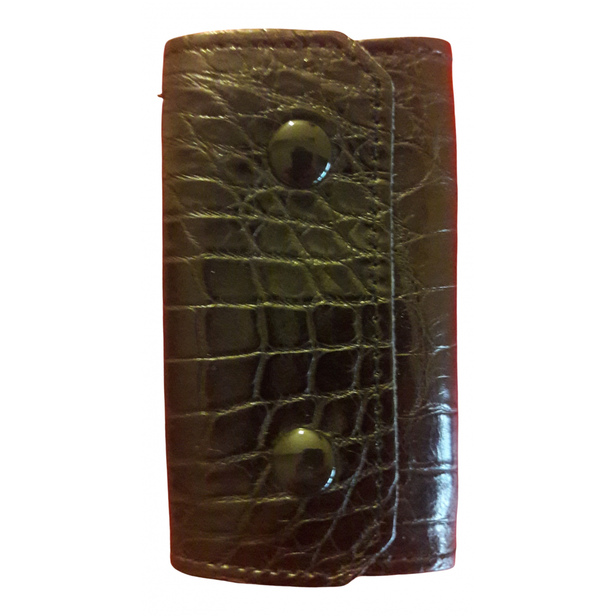 Non Signé / Unsigned N Black Crocodile Small bag, wallet & cases for Men N