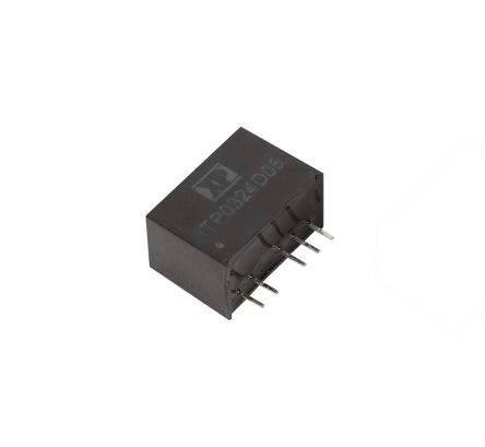 XP Power ITP 3W Isolated DC-DC Converter Through Hole, Voltage in 4.5 → 18 V dc, Voltage out ±12V dc