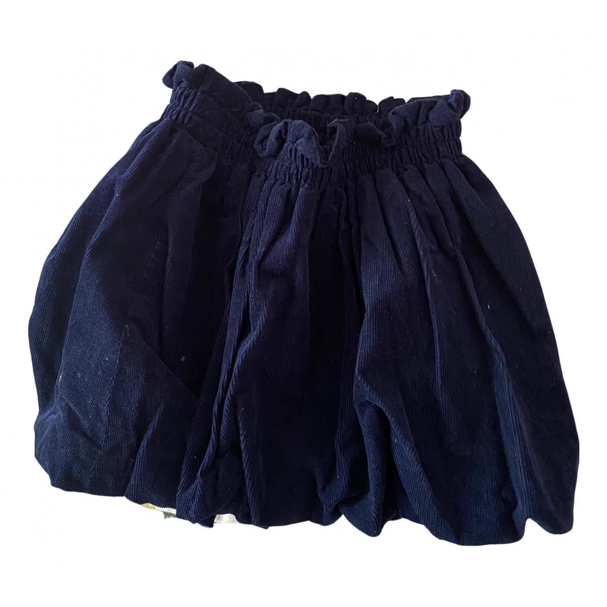 Ralph Lauren - Jupe   pour enfant en velours - bleu