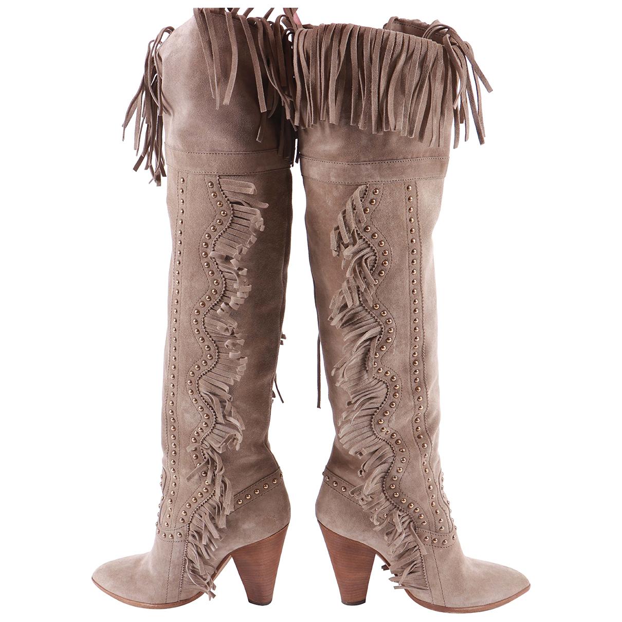 Dolce & Gabbana \N Stiefel in  Braun Veloursleder