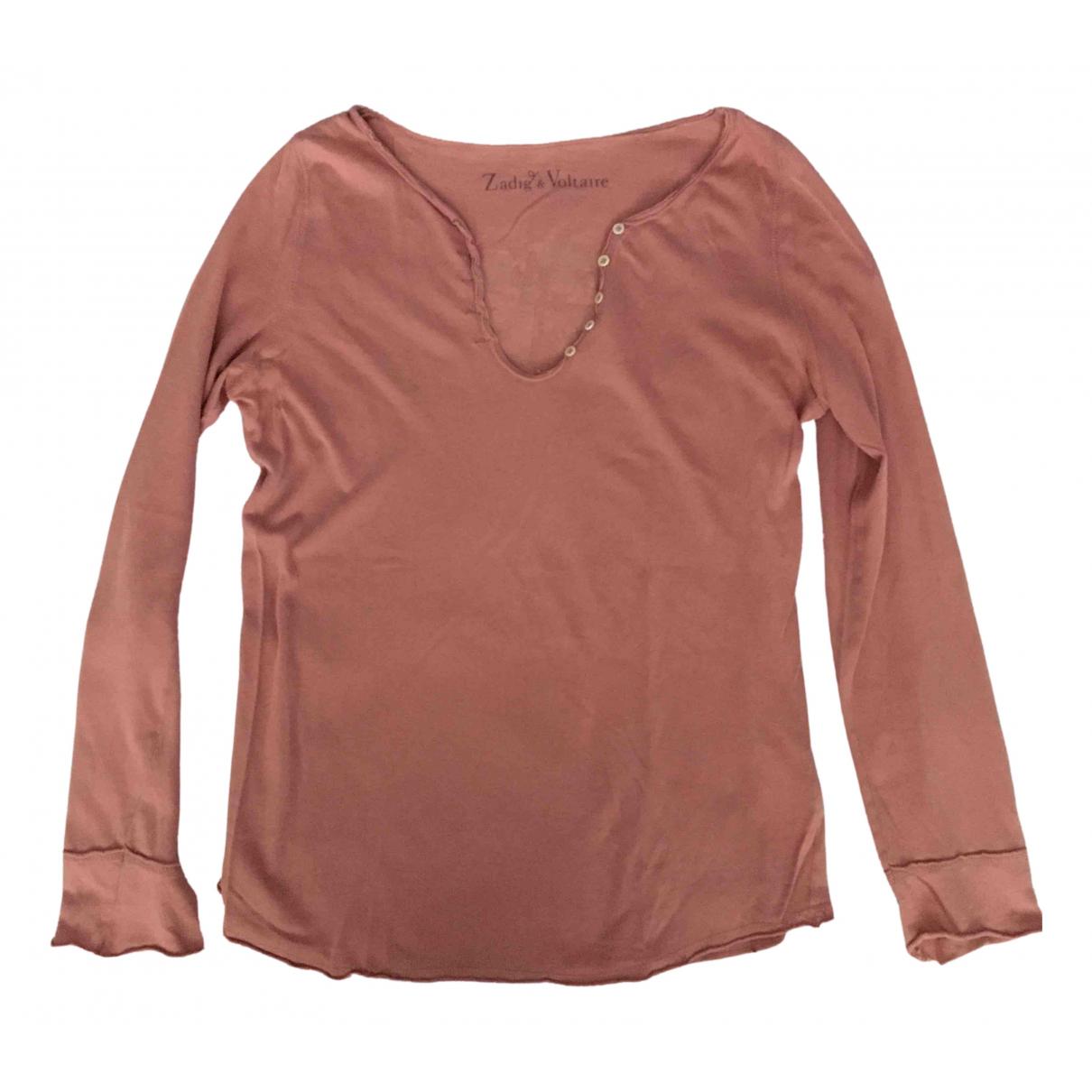 Zadig & Voltaire - Top   pour femme en coton - rose