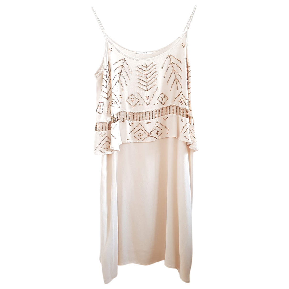 Non Signé / Unsigned N White dress for Women 46 IT