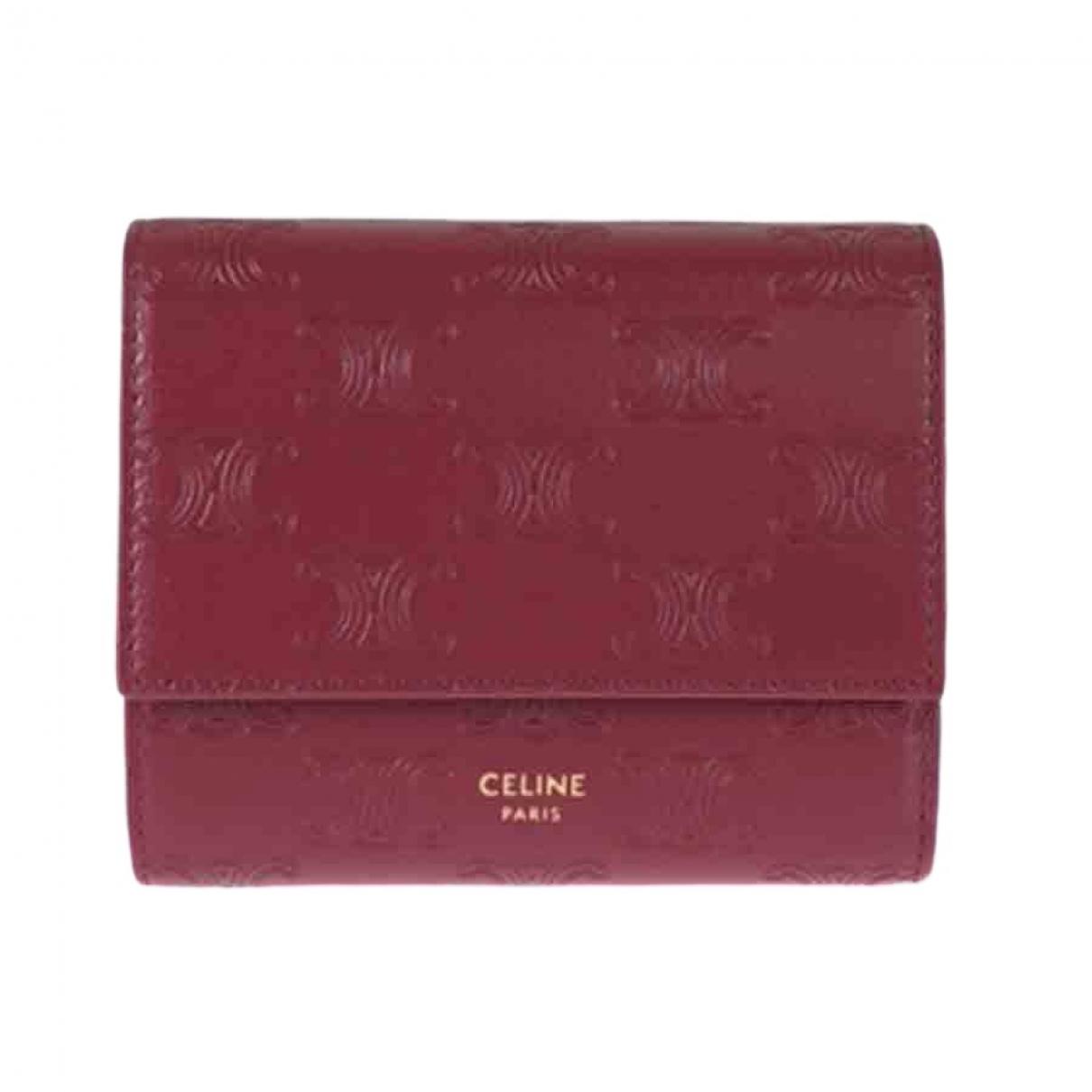 Celine \N Portemonnaie in  Rot Leder