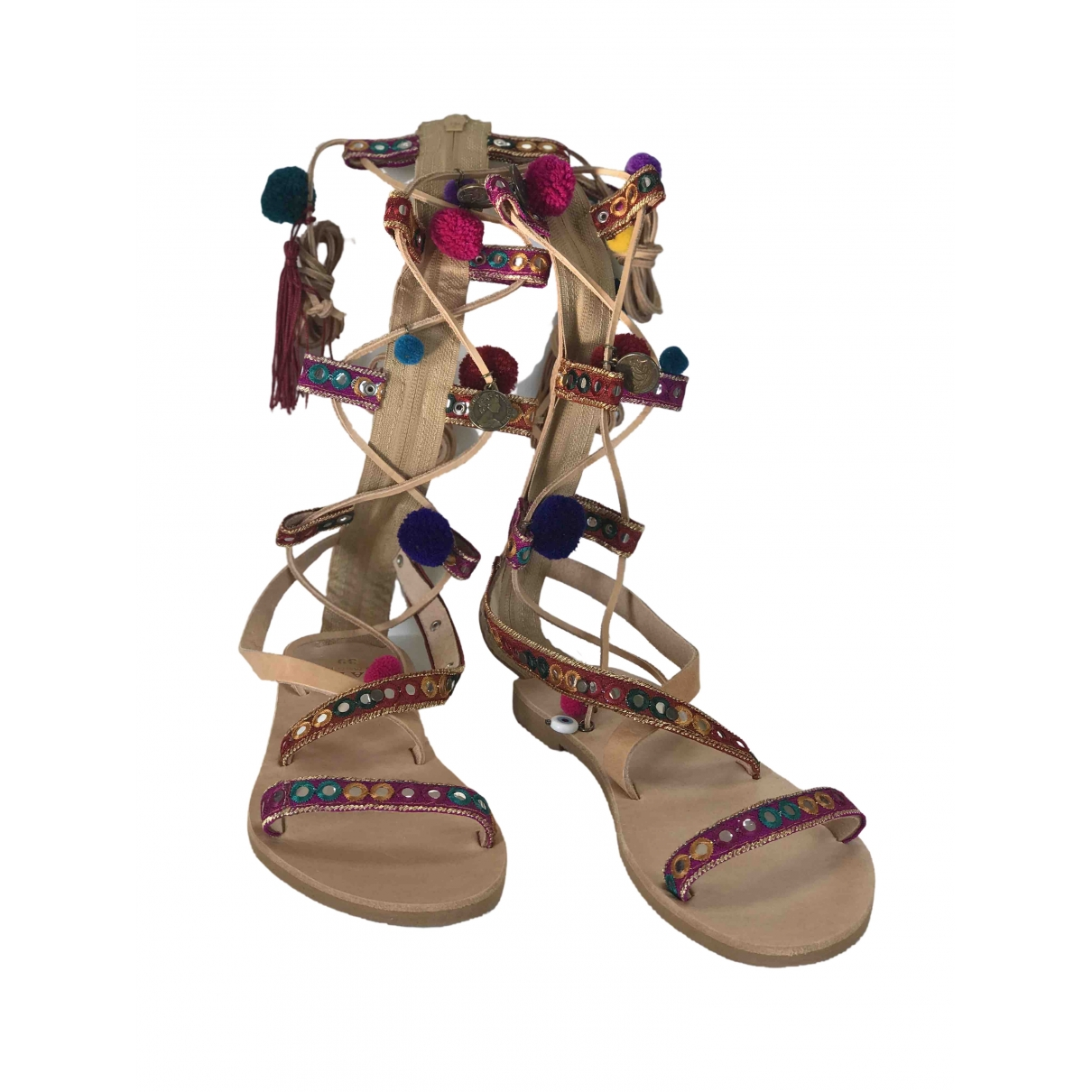 Mabu By Maria Bk \N Multicolour Leather Sandals for Women 39 EU
