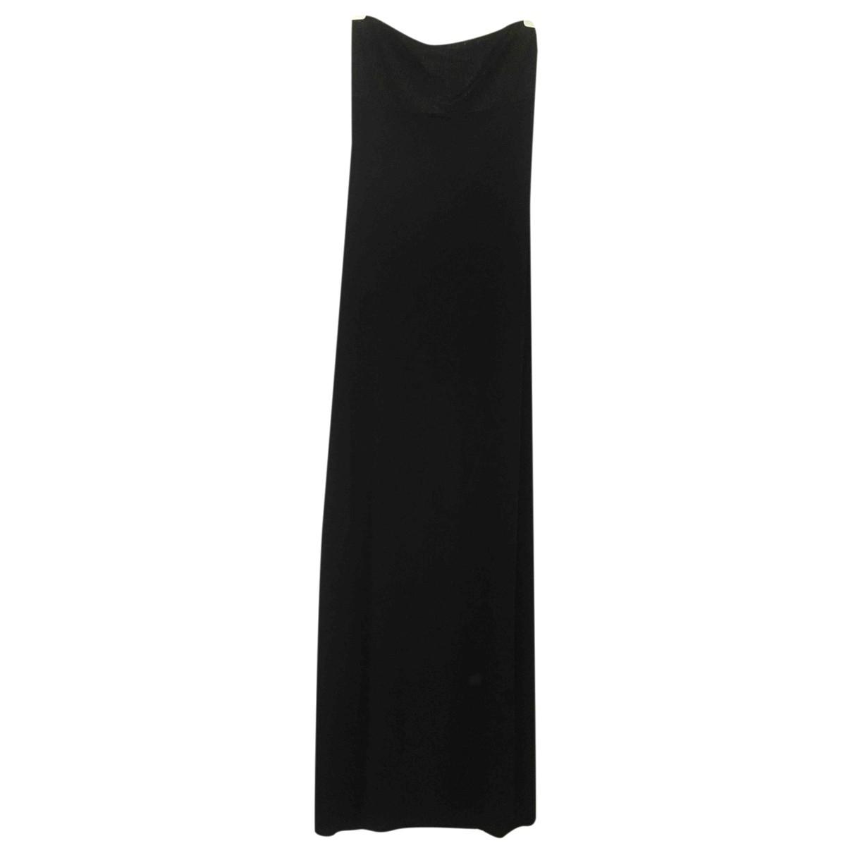 Marie France Van Damme \N Kleid in  Schwarz Viskose