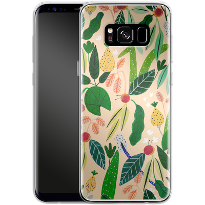 Samsung Galaxy S8 Silikon Handyhuelle - Tropical Greens von Iisa Monttinen